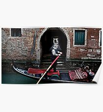 Gondola on a Calle of Venice Poster
