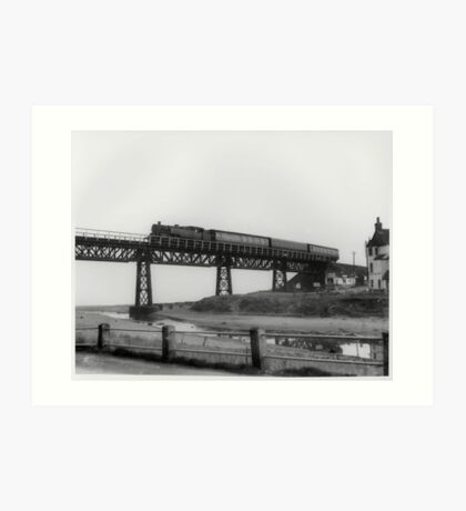 Railway at Sandsend Art Print