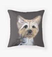 """Little dog No. 2  """"Tilly"""" Throw Pillow"""