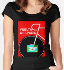 VUELTA A ESPANA: Bicycle Racing Advertising Print Women's Fitted Scoop T-Shirt