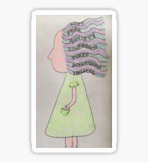 Autistic Girl Sticker