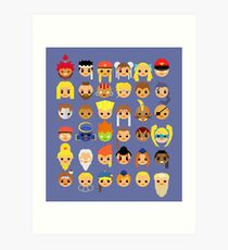 Street Fighter Alpha Series Mini Art Print