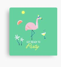 Get ready to party Impression sur toile