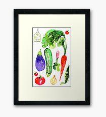 Summer Vegetables Framed Print