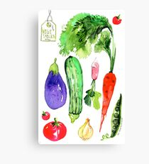Summer Vegetables Canvas Print