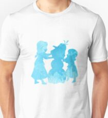 Princesses building a snowman Inspired Silhouette T-Shirt