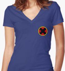 X Logo Women's Fitted V-Neck T-Shirt