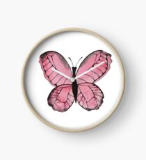 Whimsical Butterfly - Pink Clock
