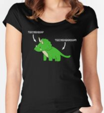 Triceratops Tricerabottom Dinosaur Funny Women's Fitted Scoop T-Shirt