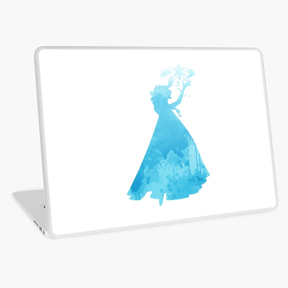 Prinzessin inspiriert Silhouette Laptop Folie