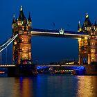Tower Bridge during the blue hour, London by Erik Schlogl