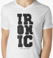 Ironic tshirt Alanis Morisette  Men's V-Neck T-Shirt