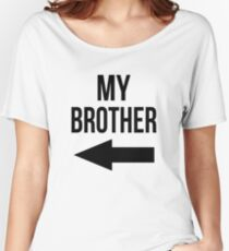 MY BROTHER / SISTER SPORT FOOTBALL KISS CAM FUNNY Women's Relaxed Fit T-Shirt