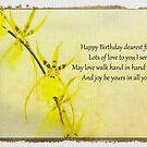 Happy Birthday Orchid by Marilyn Cornwell