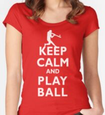 Keep Calm and Play Ball Baseball Softball Classic Women's Fitted Scoop T-Shirt