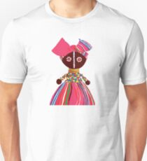 African doll pink Mama on electric background Unisex T-Shirt