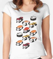SUSHI PANDA Women's Fitted Scoop T-Shirt