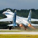 Ukranian SU27 take off by PhilEAF92