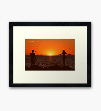 Fisherman and his Muse Framed Print