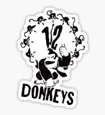 12 Donkeys Sticker