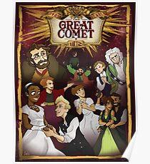Große Komet-Montage Poster