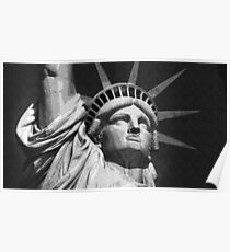 Dotted Pencil Drawing of Statue Of Liberty New York ca. 2017 by Adam Asar Poster