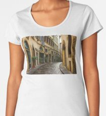 Impressions Of Florence - Walking on the Silver Street in the Rain Women's Premium T-Shirt