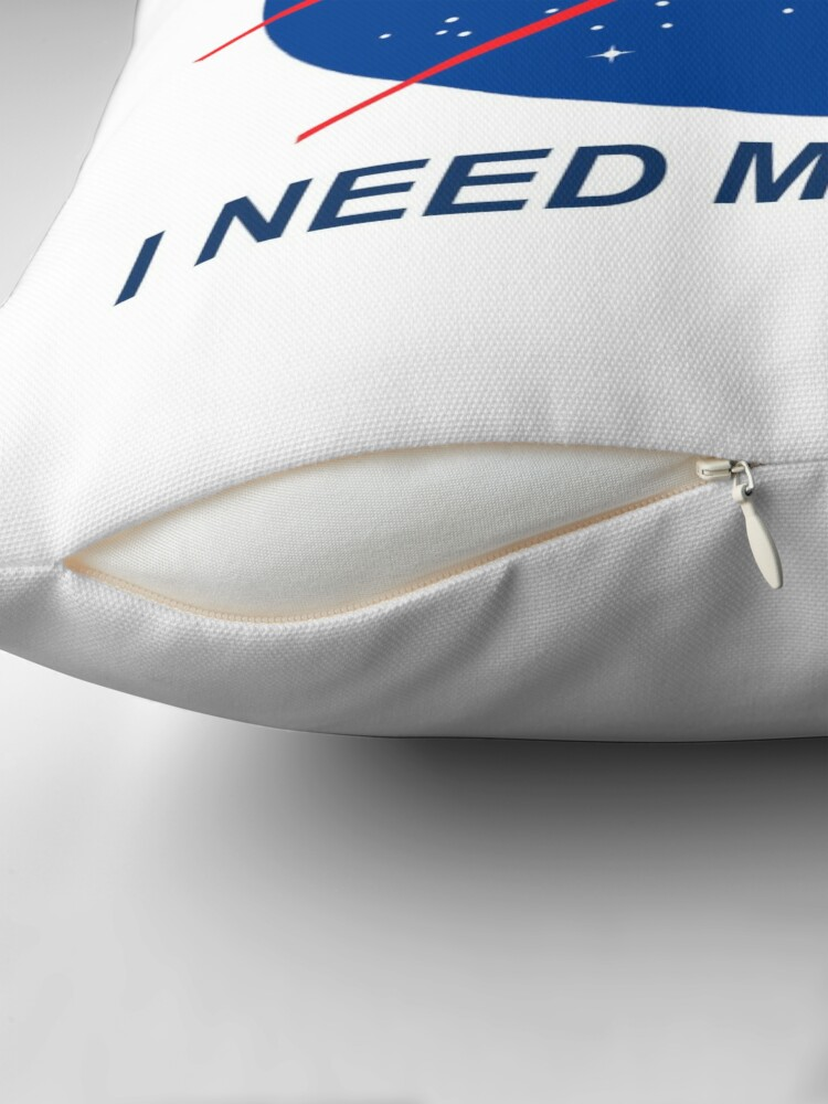 Alternate view of I Need My Space Throw Pillow