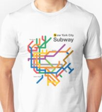 NYC Subway diagram Unisex T-Shirt