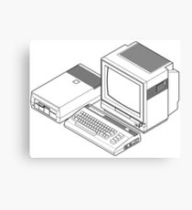 Commodore 64 with a floppy drive and CRT monitor Canvas Print