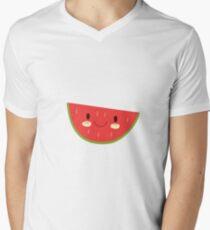 Happy Watermelon Men's V-Neck T-Shirt
