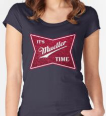 Müller-Zeit - Glitter Tailliertes Rundhals-Shirt