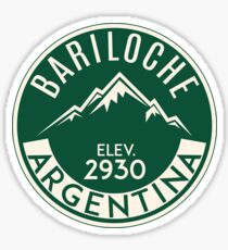 SKIING BARILOCHE ARGENTINA APRES SKI MOUNTAINS Sticker