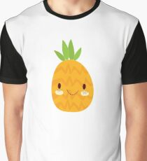 Happy Pineapple Graphic T-Shirt