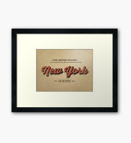 Vintage New York 1 Framed Print