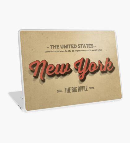 Vintage New York 1 Laptop Skin