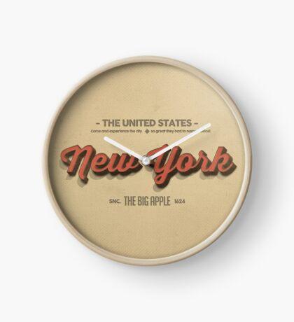 Vintage New York 1 Clock