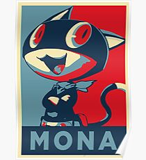 Persona 5 Morgana Mona Poster