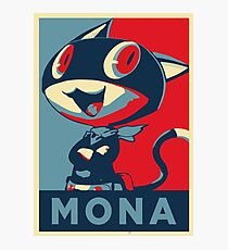 Persona 5 Morgana Mona Photographic Print