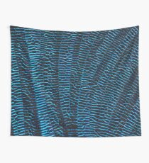 Dragonfly shiny vibrant blue wings Wall Tapestry