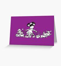 Puppy Walker Greeting Card