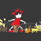 Puppy Walker - colour by Liesl Yvette Wilson