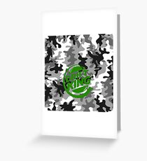 Camouflage Drift King green Greeting Card