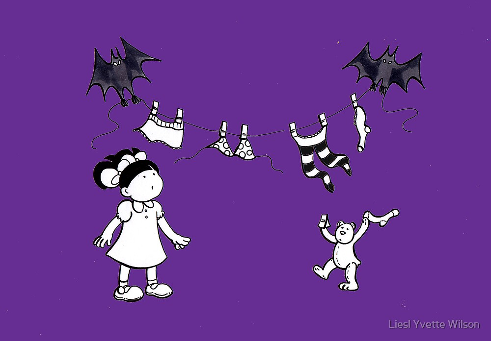 Tullulah's washing day - purple by Liesl Yvette Wilson
