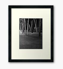 empty restaurant Framed Print