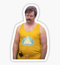 Ron Swanson Yoga Pants Sticker
