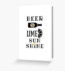 beer lime sunshine Greeting Card