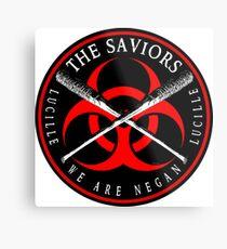 Biohazard The Saviors We Are Negan Ring Patch R2L Metal Print