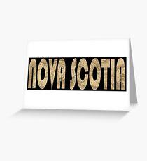 Nova Scotia 1834 Greeting Card