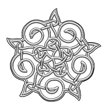 Celtic, Ornament, white by TOMSREDBUBBLE